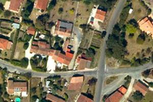vue aérienne d'habitations